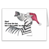 Zebra Christmas Card