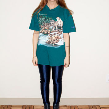 90s Wolf Forest Wilderness Unisex Hipster T by NoteworthyGarments