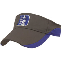 Top of the World Duke Blue Devils Match Play One-Fit Visor - Charcoal