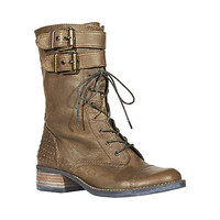 Mix-Up Green Leather Lace-Up Boot