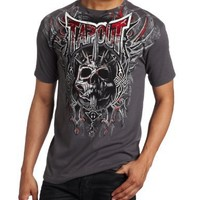 TapouT Men's Tribal Blades Crew Neck T-Shirt, Charcoal, XX-Large