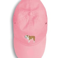 English Bulldog Embroidered Baseball Cap BB3462PK-156