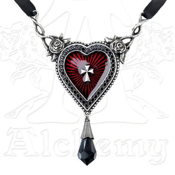 Alchemy Gothic Sacred Heart Pendant Necklace