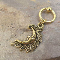 Gold Tribal Celestial Sun Belly Button Ring