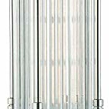 Table Lamps 1 Light with Polished Nickel Finish Metal Glass E26 Bulbs 7 inch 6 Watts