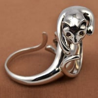 Cute 925 Sterling Silver Animal Ring