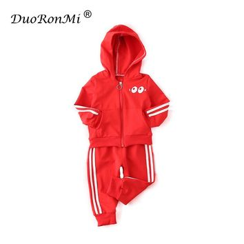 Boys Spring 2-Piece Cotton Track Suit with Novelty Googly Eyes