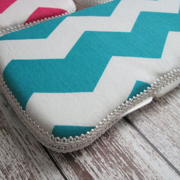 Chevron Baby Wipes Case, In Hot Pink, Gray, Aqua, or Gold You Pick