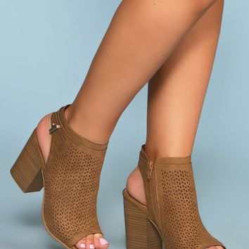 Mali Block Heeled Mules - Tan