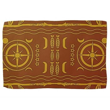 Golden Brown African Symbols Kitchen Towel