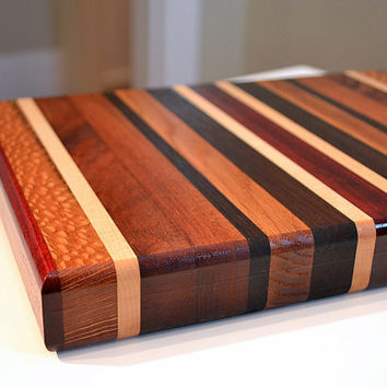 Handmade Medium Wood Cutting Board - The Artisan - Lacewood & Bloodwood