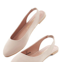 ModCloth Minimal Go-To Glamour Flat in Beige