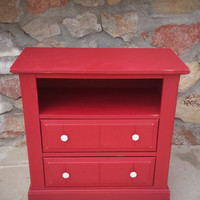 Dresser / Tv Stand / Shabby Chic Furniture / Refinished Dresser / Distressed / Chalk painted