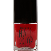 FOREVER 21 Ruby Red Nail Polish Red One