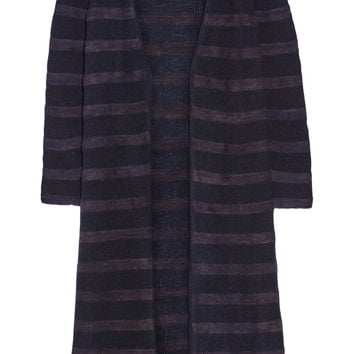 The Elder Statesman - Mr Simple striped cashmere cardigan