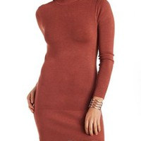 Mock Neck Sweater Dress by Charlotte Russe