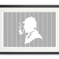 The Adventures of Sherlock Holmes poster - Typography Art Print - 36W x 24H inches