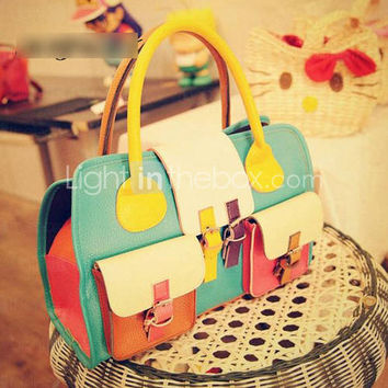 [US$ 17.09] Vintage Mixed Colors Satchel(39.5cm*13cm*29cm)