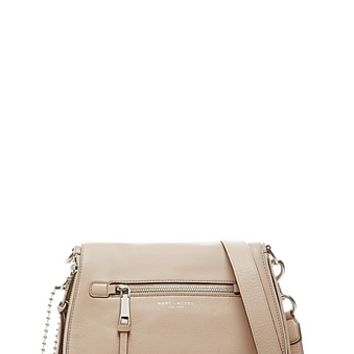 Recruit Leather Saddle Bag with Optional Strap - Marc Jacobs