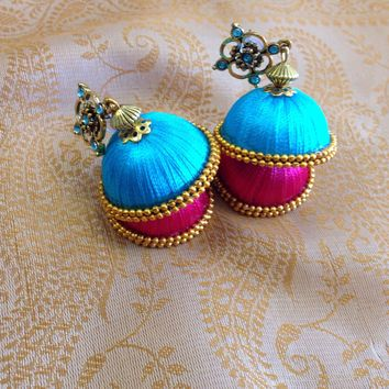 Silk Thread Jhumki