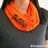 BULLDOGS t-shirt infinity scarf, or your choice of mascot