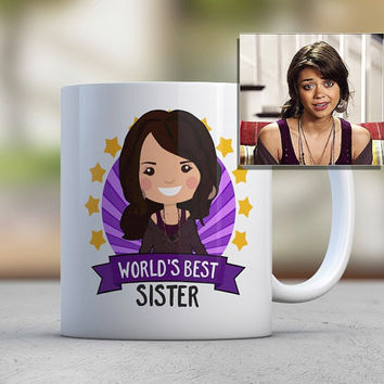 Sister Gift Brother Gift Coffee Mugs Cute Mugs Custom Photo Illustration Avatar Worlds Best Sister Birthday