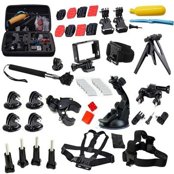 For Gopro Accessories 33-in-1 Kit Set Head Chest Strap Belt Monopod Bike Handlebar Mount Aadpter Floating Handle Grip3 For EKEN