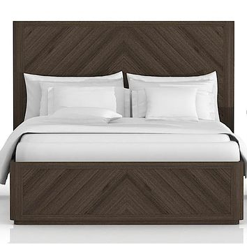 Apex Cal King Bed Cinder Brushed Acacia