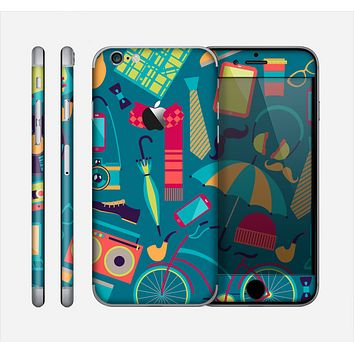 The Retro Colorful Hipster Pattern V2 Skin for the Apple iPhone 6