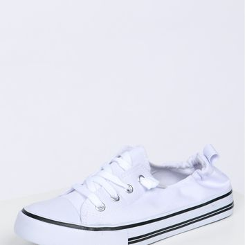 Low Rise Scrunch Sneaker White