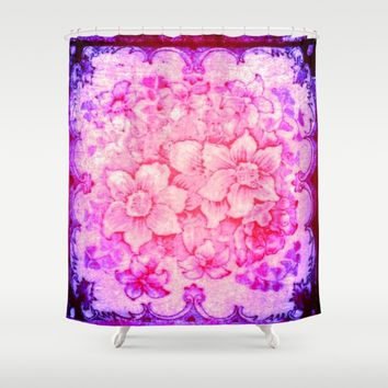 Victorian floor tile Shower Curtain by Jessica Ivy