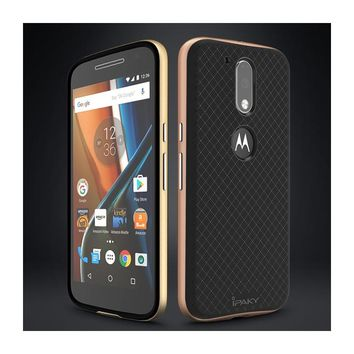 Back Protection Cover for Motorola Moto G4 Hybrid Cases Original IPAKY PC & TPU Case for Moto G4 Plus Mobile Phone Shell