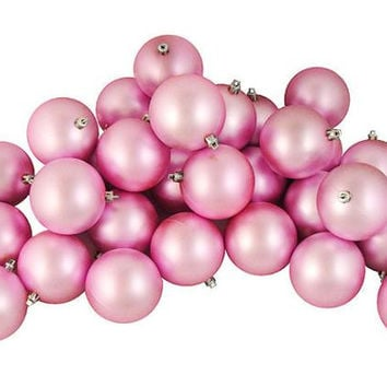 "60 Christmas Ball Ornaments - 2.5 ""  - Pink"