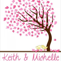 Personalized Wedding Signature Tree.. on Luulla