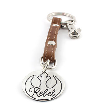 Rebel Leather Key Chain / Purse Charm