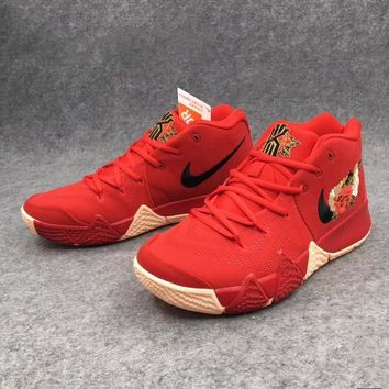 The first three-dimensional embroidery red basketball shoes