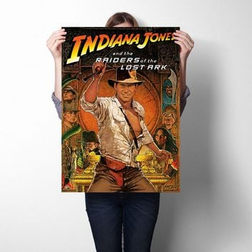 Raiders of the Lost Ark Movie Poster Wall Sticker Art Print Silk Fabric Poster And Print Wall Art Painting Home Decor