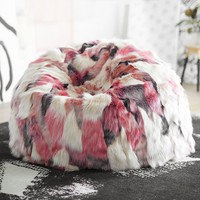 Isabella Rose Taylor Luxe Faux-Fur Beanbag
