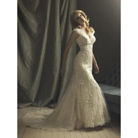 Lace Romantic Vintage Wedding Dresses With Sleeves - Star Bridal Apparel