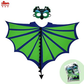SPECIAL L 35* Child pterosaur wing cape mask party decoration boy green wing dinosaur masque costume brand toys gifts