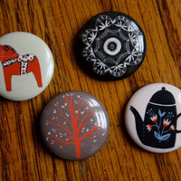 pinback button set by ybryksenkova on Etsy