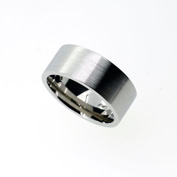 8mm wide Palladium ring, mens wedding band, unique, wedding ring men, modern, men palladium band, commitment ring, custom, matte, commitment