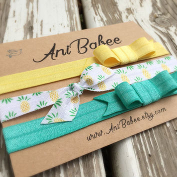 Tie knot baby headband, bow baby headband, baby headband set, shabby chic, girls headband, teen, womens, infant headband