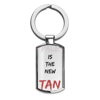 Pale Is The New Tan Premium Stainless Steel Key Ring| Enjoy A Unique  & Personalized Key Hanger To Carry Your Keys W/ Style| Custom Quality Prints| Household Souvenirs By Styleart