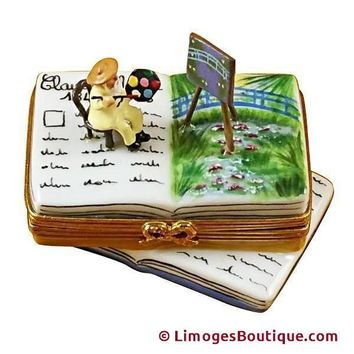 BOOK MONET/WATER LILIES LIMOGES BOX
