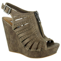 Saucin Wedges - Taupe