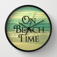 Beach Clock | Beach Photography | Decorative On Beach Time Wall Clock | Beach House Decor | Nature Photography | ModernBeach