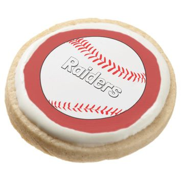 Custom Team Name and Color Baseball Cookies