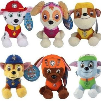 ESBONG 1pcs New 20cm Puppy Paw Patrol Dogs Plush Toys for Children Gift Brinquedos for Boy Girls 6 Dogs