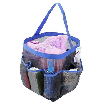 Felji Shower Caddy Tote Toiletry Gym Beach Pool Dorm Baby Diaper Bag Makeup Bath Mesh